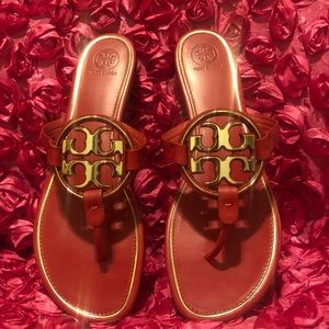 Tory Burch Brilliant Miller  Leather Sandals